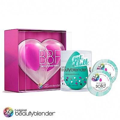 beautyblender 原創粉心心相印限定組+活氧綠x1+迷你綠清潔皂0.55ozx2