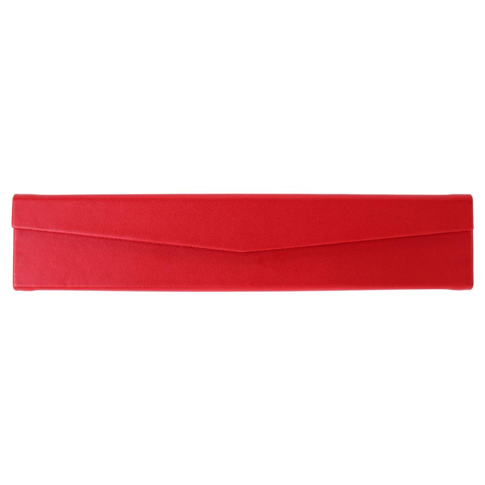 ARTEX life 皮革三角摺疊筆盒-紅