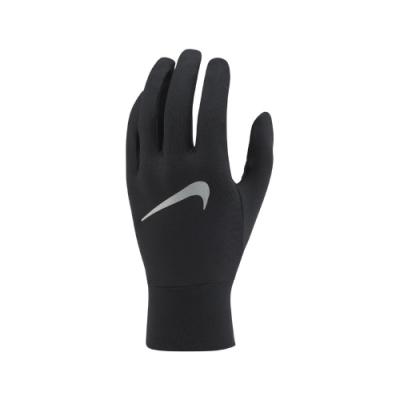 Nike 手套 Running Gloves 運動 男款 快乾排汗 透氣 路跑 慢跑 可觸控 黑 銀 N1001584082