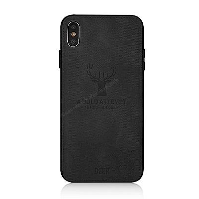 VXTRA iPhone Xs Max 6.5吋 北歐鹿紋防滑手機殼(安藤石灰)