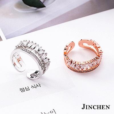 JINCHEN 合金水晶鑽戒指