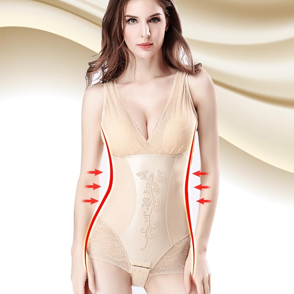 塑身衣 3S美體420D美體花語超束覆胸式三角束衣 晶鑽膚 ThreeShape