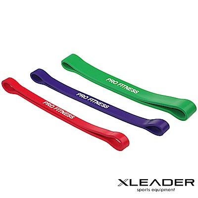 Leader X 運動健身彈性環狀阻力帶 伸展拉力圈 紅+紫+綠 3入組