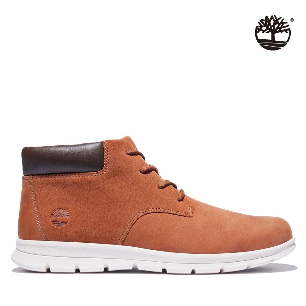Timberland 男款紅棕色磨砂革休閒鞋|A235Q