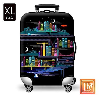 繽紛行李箱套--星空城市XL