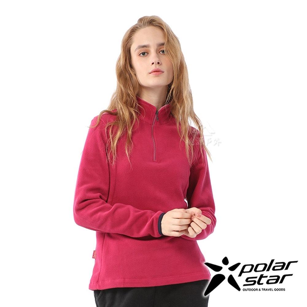 【PolarStar】女 高領拉鍊保暖衣『暗桃紅』P20208