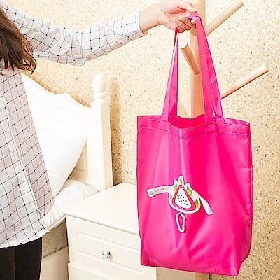 E.City_促銷5入-可折疊圖案式防潑水帶扣環保購物袋收納袋