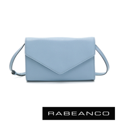 RABEANCO 迷時尚系列牛皮兩用信封包 水藍