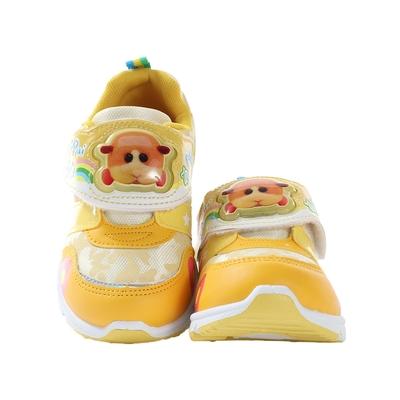 魔法Baby 男女童鞋 台灣製天竺鼠車車卡通授權正版閃燈運動鞋 電燈鞋  sa10904