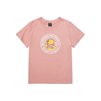 CACO-小熊維尼燙金T-情侶款-女【TDI163】