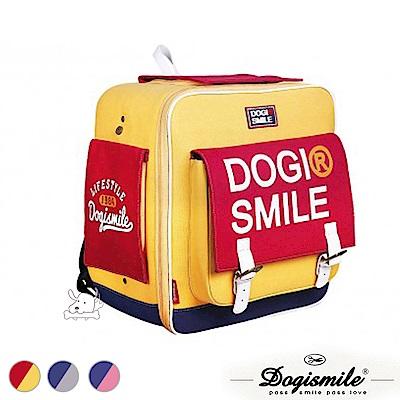 Dogismile 方形 寵物帆布後背包 共3色