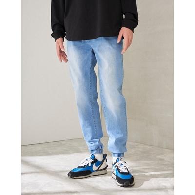 CACO-針織牛仔束腳褲-男【C1AR024】