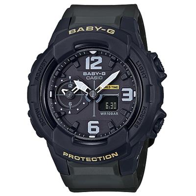 BABY-G 引領潮流系列百變時尚休閒錶(BGA-230-3B)黑面X軍綠色42.9mm