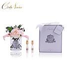 法國 CoteNoire 蔻特蘭 粉紅百合玫瑰香氛花透明瓶