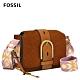 FOSSIL Wiley 真皮復古美型側背包-棕色 ZB1331231 product thumbnail 1