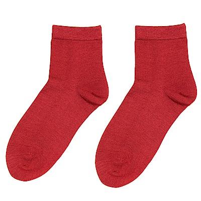 闕蘭絹 蠶絲襪-紅色3件組