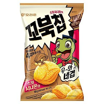 好麗友 烏龜玉米脆片-肉桂風味(80gx12包)