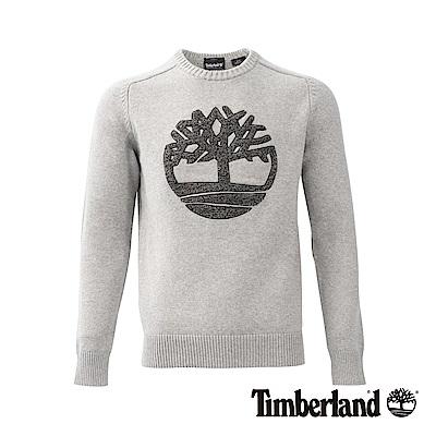 Timberland男款灰色Browns River LOGO圓領運動衫|A1NPW