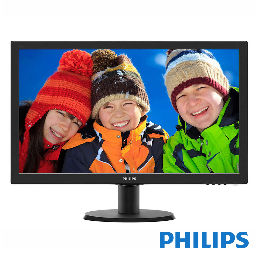 PHILIPS 243V5QHSBA 24型 MVA 電腦螢幕