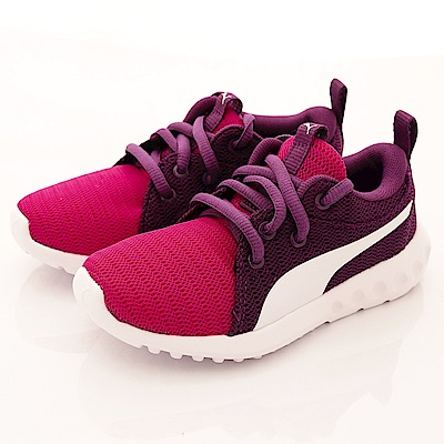 PUMA童鞋 針織綁帶款 90073-04紫桃(小童段)-0-17