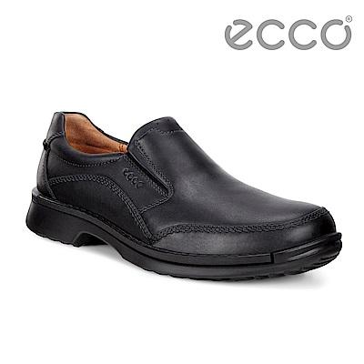 ECCO FUSION柔軟舒適套入式正裝鞋 男-黑