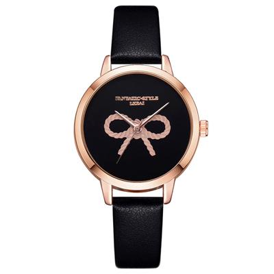 Watch-123 古典優雅歐美蝴蝶結石英手錶 (2色任選)