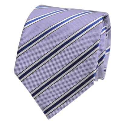 DAKS 優雅斜紋圖騰領帶(灰藍色底/藍/灰)