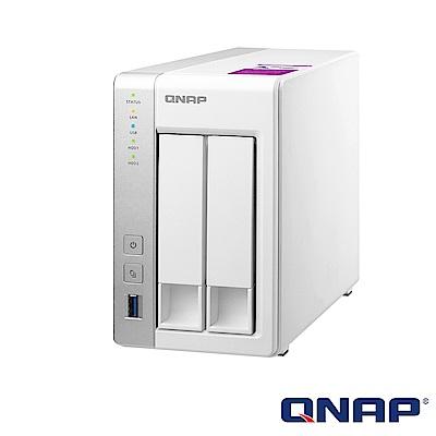 (無卡分期)【促銷組合】QNAP TS-231P2-1G 網路儲存伺服器+WD 4TB*2