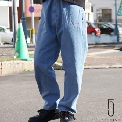 ZIP日本男裝 KANGOL別注款LOGO刺繡休閒氣球褲錐形褲  丹寧/斜紋織 (9色)