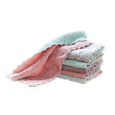 E-dot 雙層超細纖維吸水布巾10入組 (二色)