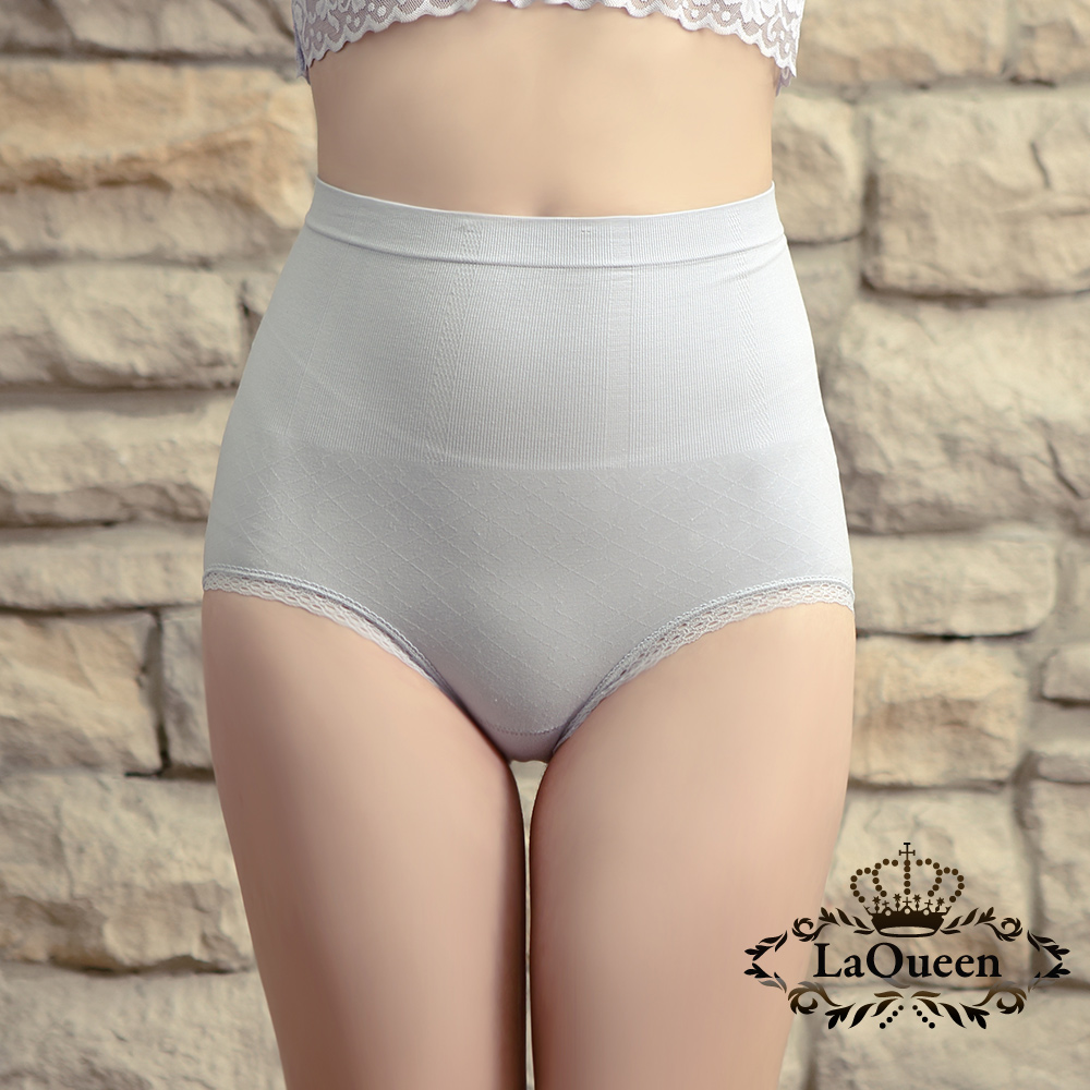 塑褲 萊卡環型塑腰彈力蠶絲塑褲-灰 La Queen
