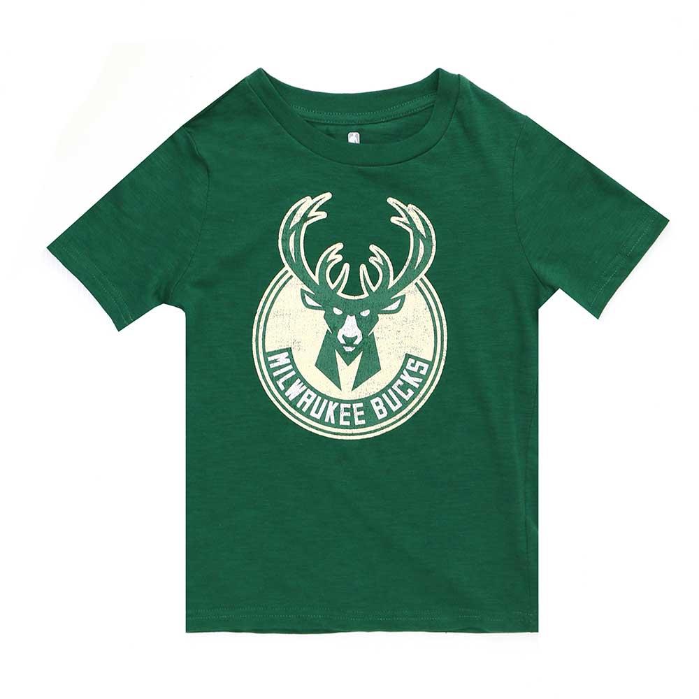 NBA 兒童 隊徽短袖T恤 公鹿隊