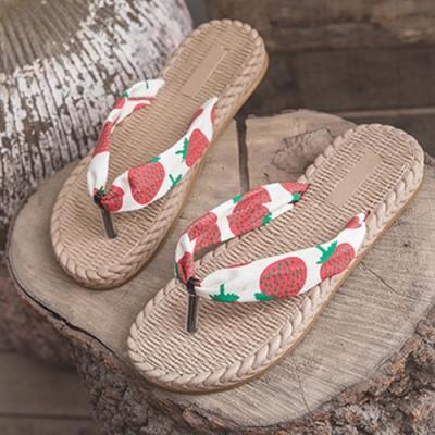 KEITH-WILL時尚鞋館 輕柔繽紛多彩夾腳涼拖鞋 草莓