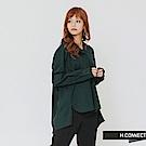 H:CONNECT 韓國品牌 女裝-純色半開襟襯衫-綠