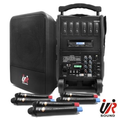UR SOUND 75W六頻藍芽MP3移動式無線擴音機(鋰電)PA9260CDNBL