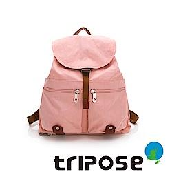 tripose MEMENTO系列微皺尼龍輕量防潑水後背包-大(櫻花粉)