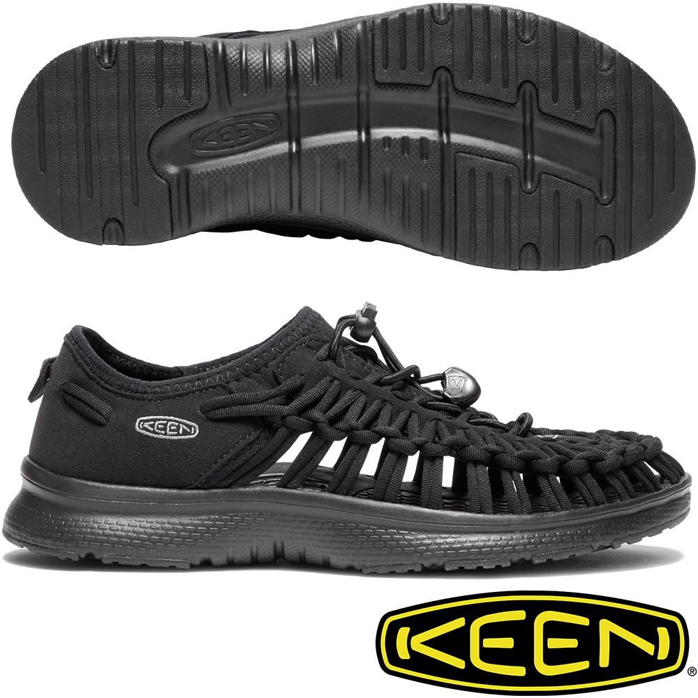 KEEN 1018723黑 Uneek O2 女戶外護趾編織涼鞋/水陸兩用
