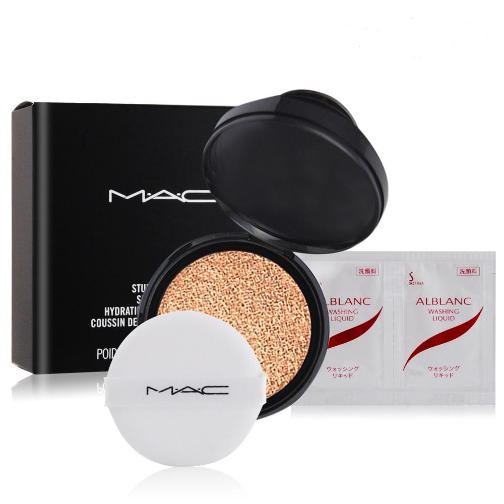 M.A.C 超持妝無瑕氣墊SPF50(補充粉蕊)12g+清潔試用包(隨機)X1