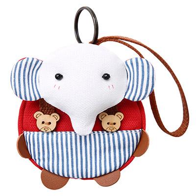 A+ accessories 三色補丁-多樂象萌物童趣鑰匙零錢多用途小包