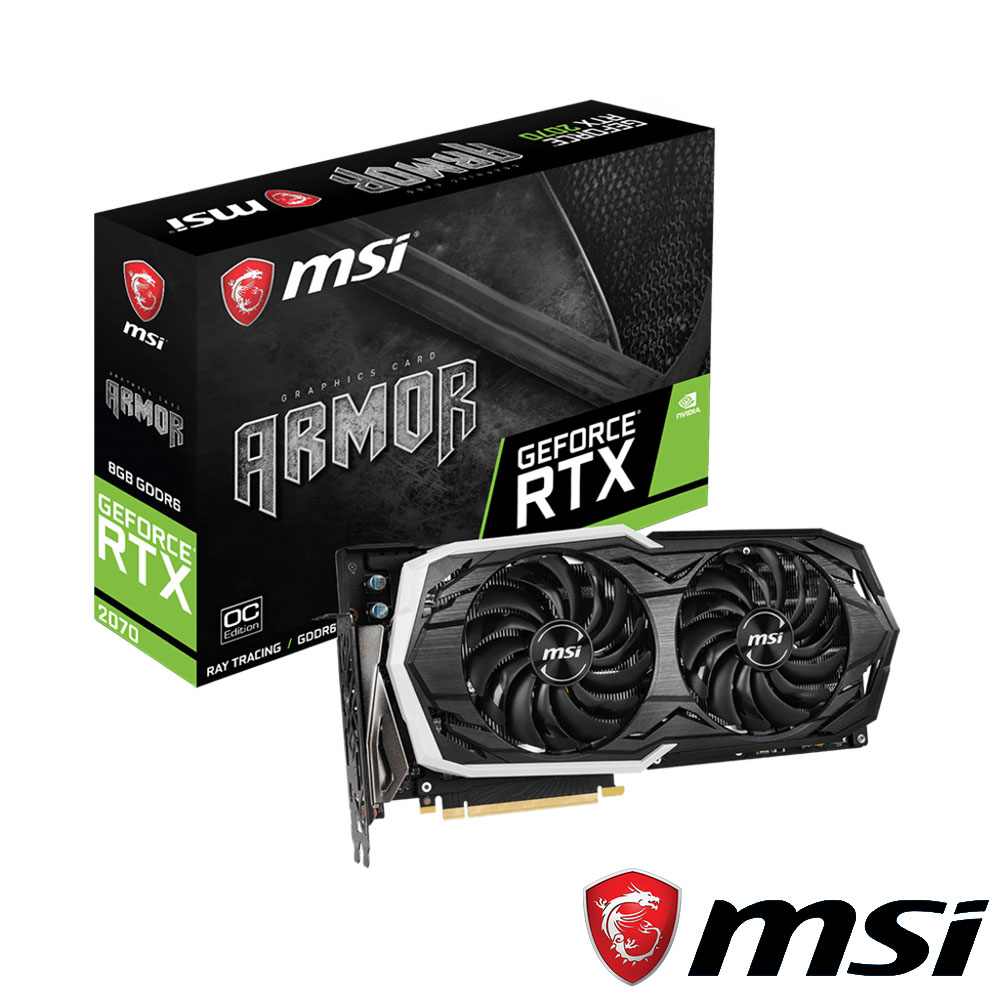 MSI微星 GeForce RTX 2070 ARMOR 8G OC 顯示卡