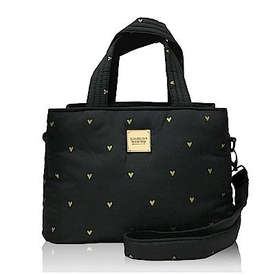 VOVAROVA空氣包-優雅雙用包-心空閃耀(黑)