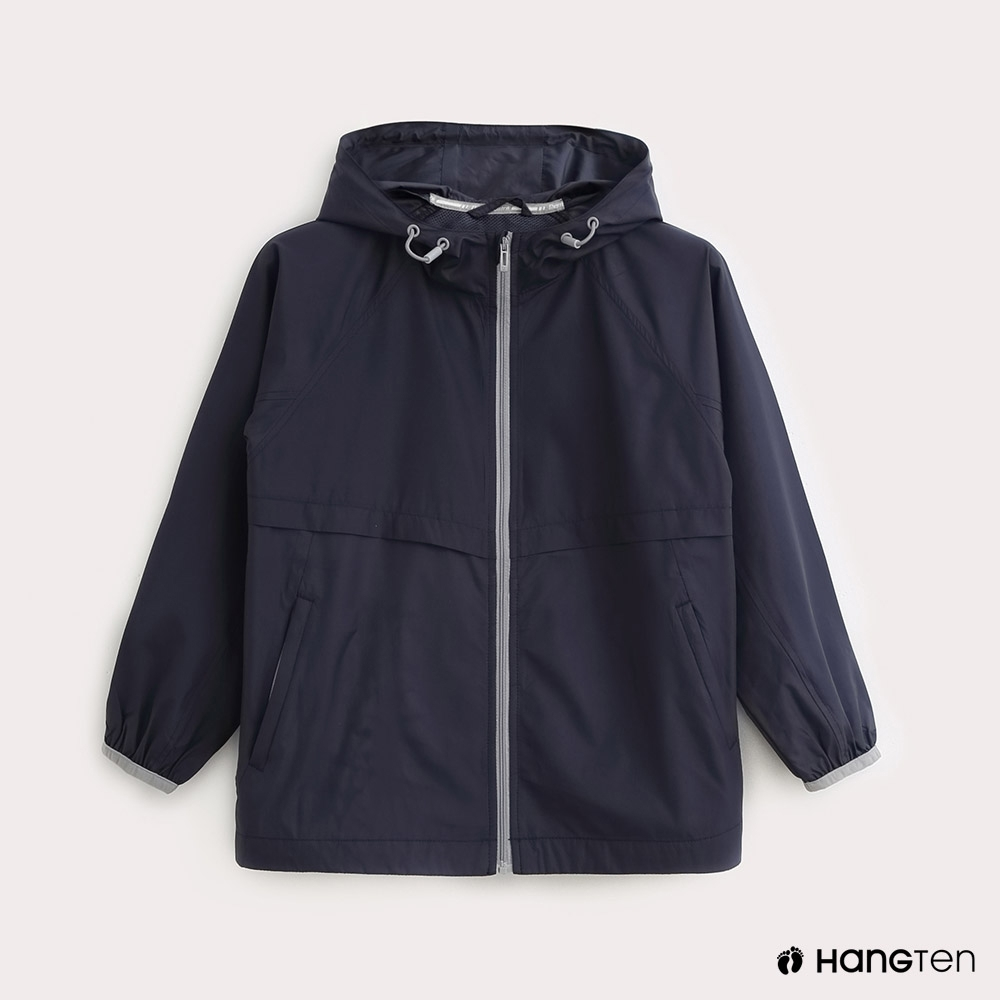 Hang Ten-ThermoContro-童裝薄夾克收納風衣外套-藍 product image 1