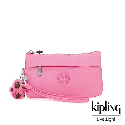 Kipling 甜美糖果粉手拿配件包-NIYLAH