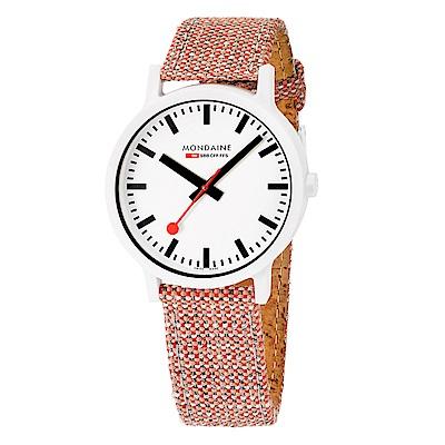 MONDAINE 瑞士國鐵 essence系列腕錶-41mm/磚紅