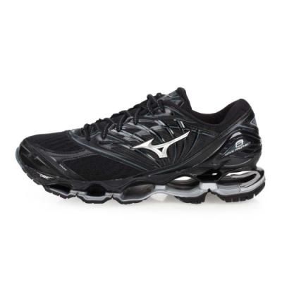 MIZUNO WAVE PROPHECY 8 男慢跑鞋-路跑  黑銀
