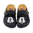 迪士尼 米奇 復古立體造型 休閒拖鞋-黑