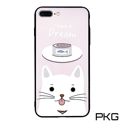 PKG Apple IPhone 7/8 Plus 彩繪保護殼-浮雕彩繪-貓和罐...