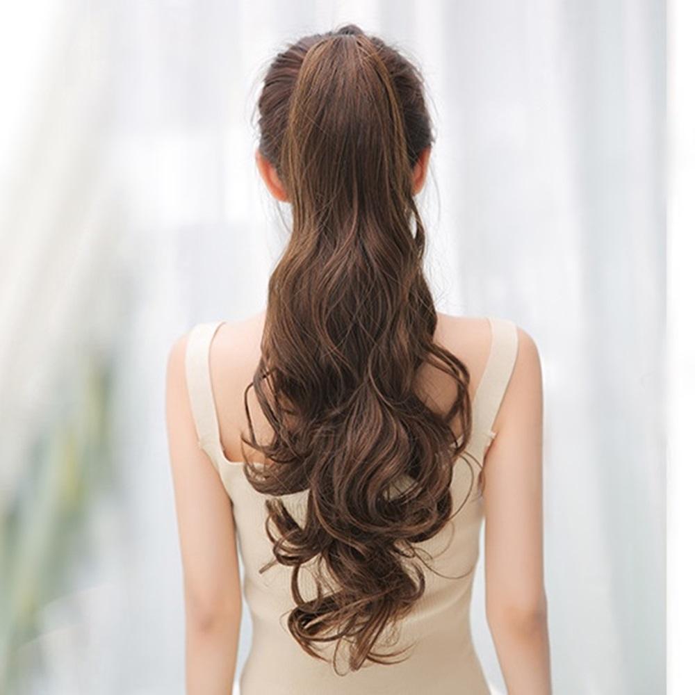 米蘭精品 假馬尾長假髮-氣質波浪仿真長捲髮女假髮3色73rr54