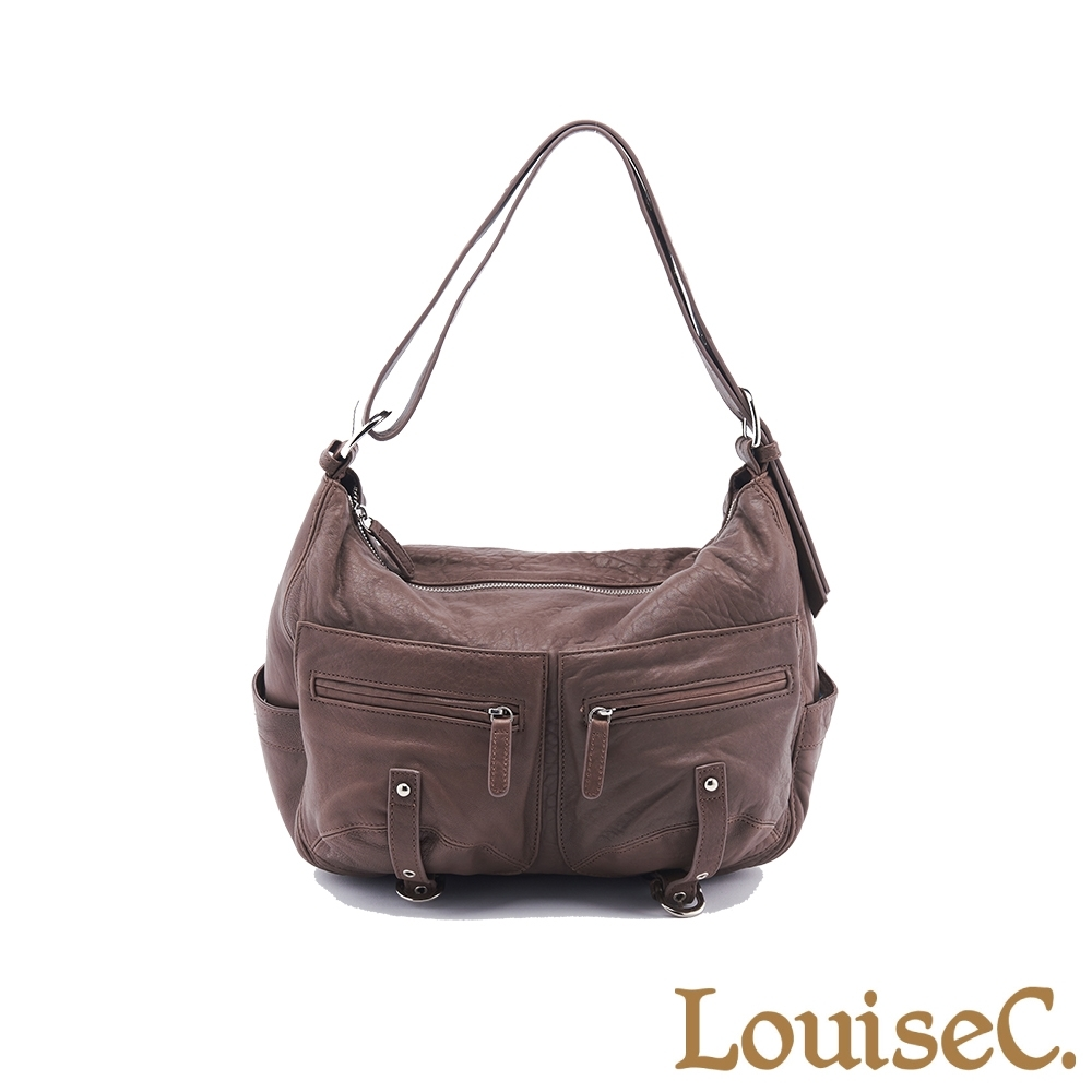 【LouiseC.】義大利水洗羊皮愛旅包-咖啡色 (72L03-0005A03)