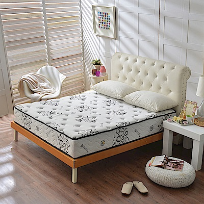 A家-女性專用-涼感天絲抗菌-護邊蜂巢獨立筒床墊-雙人加大6尺-護腰麵包床